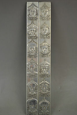 9.2 inch Old Handwork miao silver Qing Dynasty 12 emperor pair statue gd6166