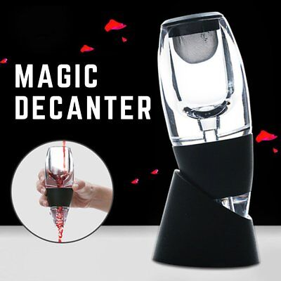NEW Magic Decanter Essential Red Wine rack Aerator glasses Bottle Aerating UK BU