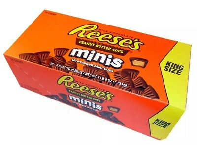 REESE'S Box 16x70g Bags Minis Milk Peanut Butter Cups King Size FREE EXPRESS POS