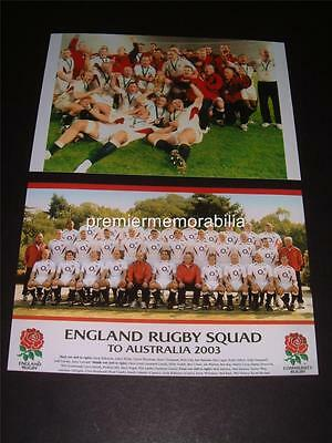 England 2003 Rugby World Cup Final Winners Jonny Wilkinson Martin Johnson