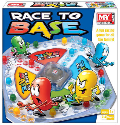 Race To Base Frustration Fun Family Board Game Gift Xmas Toy Kids Pop A Dice New
