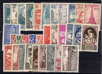 FRANCE: ANNEE COMPLETE 1939 DE 32 TIMBRES NEUF** YTN°419/450 Cote: 343,00€