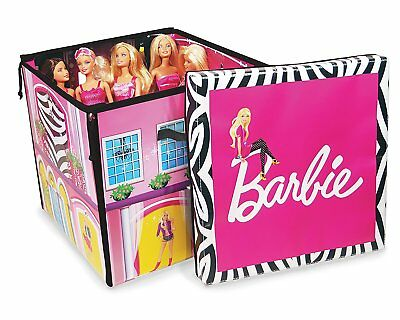 House Barbie Dream Zipbin Storage Play Dolls Box Girls Accessories New Fun Toy