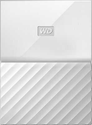 WD - My Passport 1TB External USB 3.0 Portable Hard Drive - White