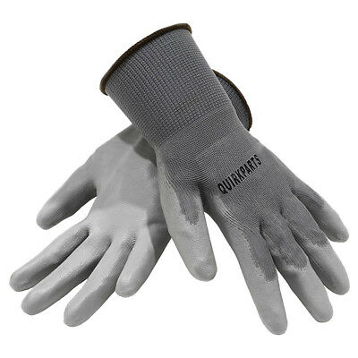 100 PAIRS Of Grey Liner Coated Gloves Unisex Automotive Work Indoor Outdoor Use