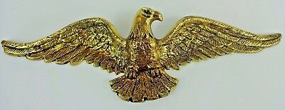 "Vintage - Solid Brass Heavy Wall Mount Patriotic EAGLE 19"" #1020 USA"