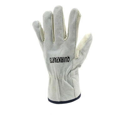 100 Pairs Of Cow Grain Leather Drivers Gloves Unisex Automotive Outdoor Work