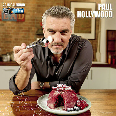 Paul Hollywood 2018 Calendar with FREE Pullout Poster : Great British Bake Off