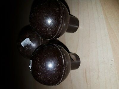 3 x BAKELITE 1930s ART DECO Door Knob VINTAGE reclaimed HANDLEs Knobs