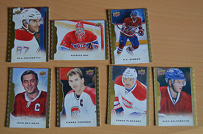 NHL Masterpieces Montreal Canadiens Roy Galchenyuk Pacioretty Plekanec Subban +