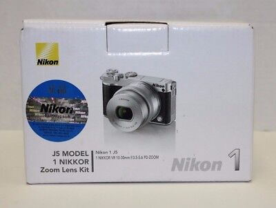 Nikon 1 J5 Mirrorless Digital Camera 10-30mm Lens Silver