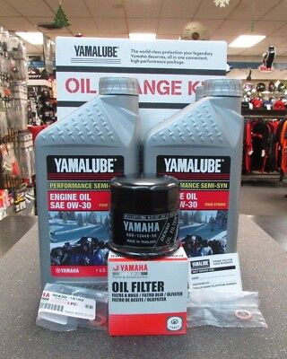 Yamaha 4-Cylinder Snowmobile 0w30 Semi-Synthetic Oil Change Kit LUB-SMBCG-KT-11
