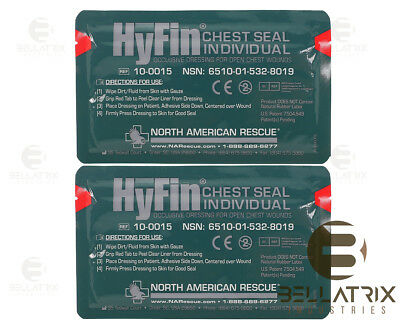 Hyfin Chest Seal Occlusive Bandage, 2 pack, Newest Version