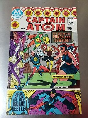 1966 Modern Comics Captain Atom # 85 Guest Star Ted Kord Blue Beetle