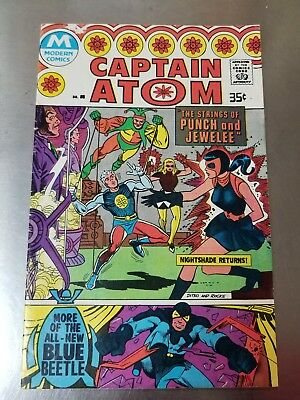 1978 Modern Comics Captain Atom # 85 Star Ted Kord Blue Beetle Nightshade FINE +