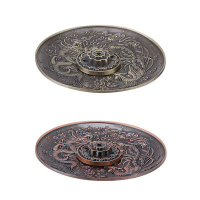 Chinese Incense Burner Holder Dragon Statue Lucky Censer Plate For Sticks & Cone