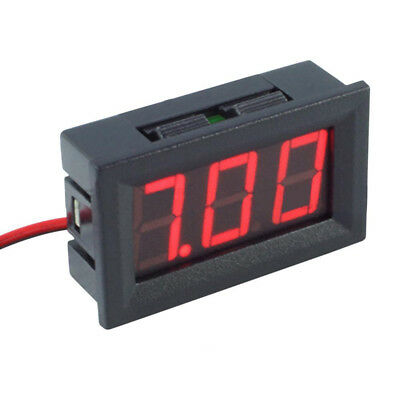 "4.5-30V DC Two-Wire 0.56"" Red Panel Mount LED Digital Voltmeter Voltage Meter US"