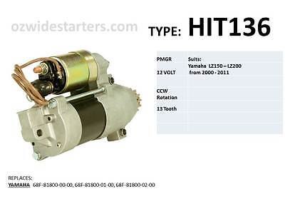 Yamaha starter motor suits LZ150 - LZ200 from 2000 - 2011