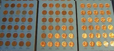 LINCOLN WHEAT 1941-1958 + MEMORIAL 1959-1974 CENTS w/ FOLDER -PENNY COLLECTION