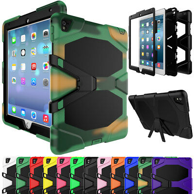 """For Apple iPad Mini Air Pro 9.7"""" Kids Safe Screen Protector Shockproof Hard Case"""