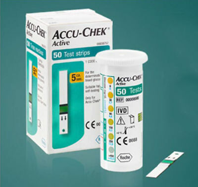 ACCU CHEK Active Test Strips 50, EXPIRY  MAY 2019