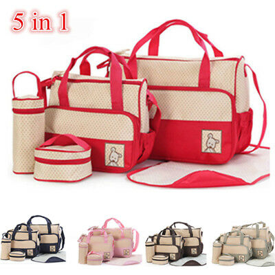 5 Pcs Waterproof Diaper Nappy Changing Liners Bags Set Mummy Baby Travel Bag