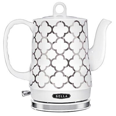Bella 1 2l Electric Ceramic Tea Kettle With Detachable Base And Boil