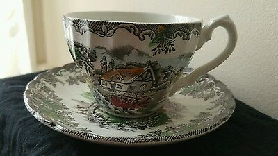 Myott 70s Teacup and Saucer, The Brook Made In England Fine Staffordshire Ware