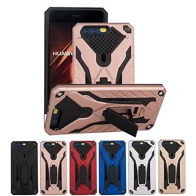 Hybrid Armor Heavy Duty Rubber Hard Case Cover For Huawei P8/P9/P10 Lite Mate 9