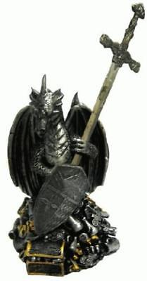 """8"""" Polyresin dragon and treasure box with 10"""" letter opener"""