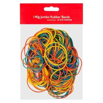 New 250pcs Elastic 140g Rubber Bands Assorted Colours For Home School Office UK