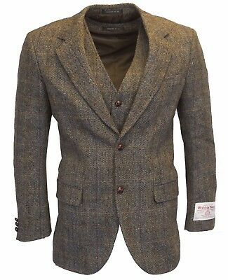 Walker & Hawkes - Mens Classic Scottish Harris Tweed Overcheck Country Blazer