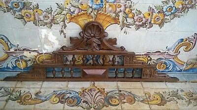 Antique French  Hand Carved Wood Pediment#3