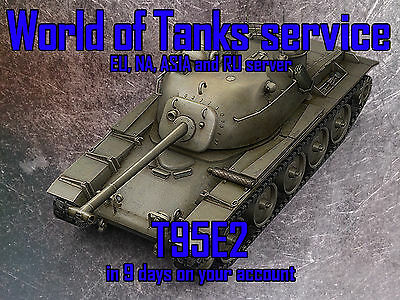 WORLD OF TANKS EU, NA, RU and ASIA - T95E2 - IN 9 days on