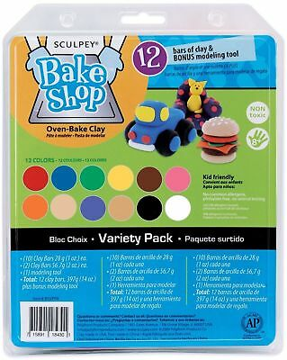 Polyform Sculpey Bake Shop Clay Variety Pack 14 oz Assorted Colors - LOWEST COST