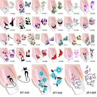 1 Sheet Various Decals Nails Art Water Transfer Stickers