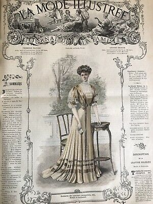 French MODE ILLUSTREE SEWING PATTERN April 28,1907  LAYETTE