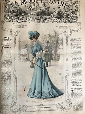 French MODE ILLUSTREE SEWING PATTERN September 15,1907