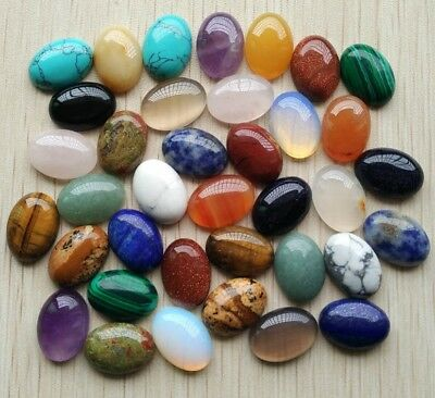 natural gemstones oval Cabochon CAB loose beads stone DIY agate jasper turquoise