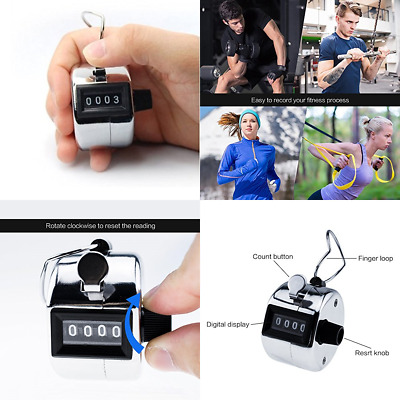 Manual Tally CounterHorsky Digit Number Lap Counter Hand Held Mechanical Clic...
