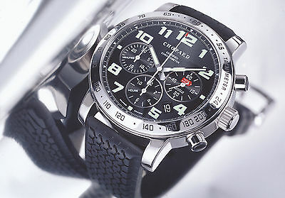 Chopard Pressefoto Mille Miglia 2002 Chronograph press photo GB F D I E Foto Uhr