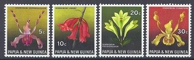 Papua New Guinea orchid flowers, 1969. MNH SC# 287-290. 2017 cat. val. $3.60