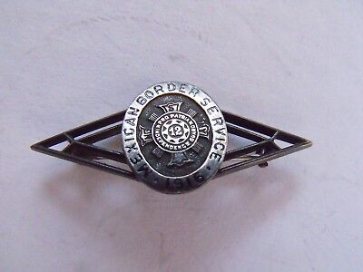 RARE 1915 MEXICAN BORDER SERVICE STERLING SILVER PIN 12th NEW YORK GUARD