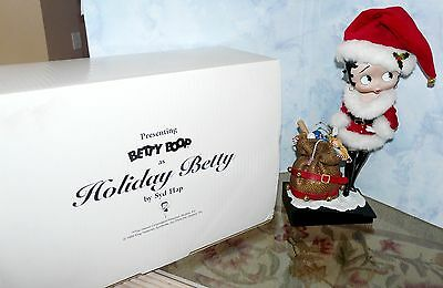"HOLIDAY BETTY By Syd Hap Danbury Mint 12.5"" Porcelain Betty Boop Doll Box & COA"