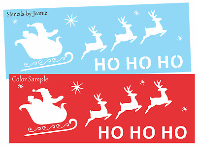 """/""""REINDEER JUMPING 3/"""" Flying Christmas 8.5/"""" x 11/"""" Stencil Plastic Sheet NEW S225"""