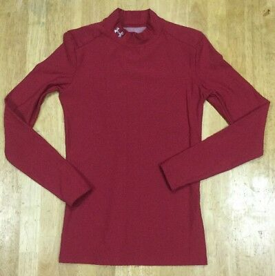 Under Armour ColdGear Fitted Red Long Sleeve Compression Top Medium