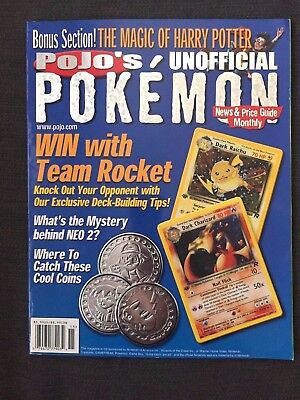 August 2000 Pojo's Pokemon News & Price Guide Monthly Magazine *RARE*VINTAGE*