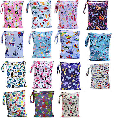 Kids Wet Bag 30x40cm for Nappies, Clothes, Swimmers, baby clothes waterproof tog