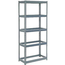 """Extra Heavy Duty Shelving 36""""W x 12""""D x 96""""H With 5 Shelves, No Deck"""