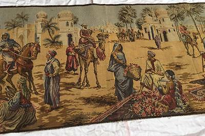 Antique Belgium Tapestry 'Market Scene' 20th century